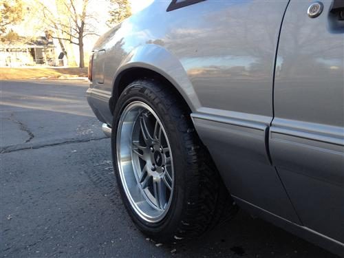 1979-93  Mustang Anthracite Anniversary Deep Dish Wheel & Tire Nitto Tire Kit - 17X9/10